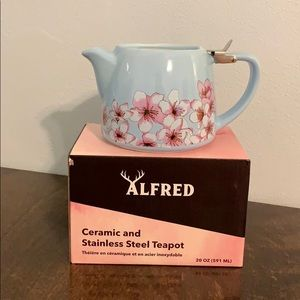 NEW Alfred ceramic and stainless steel teapot
